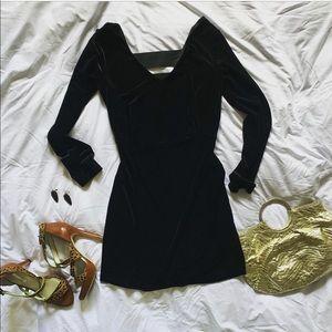 BCBGeneration   Black Velvet Mini Dress   Size L
